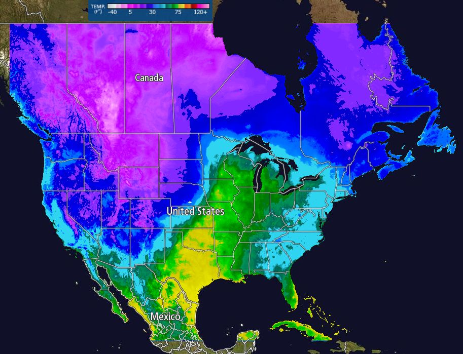 Us Current Weather Map Temperatures - Weather map of the us with temps