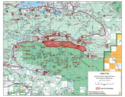 Big Bear Lake Fire Map.Socalmountains Com Printer Friendly